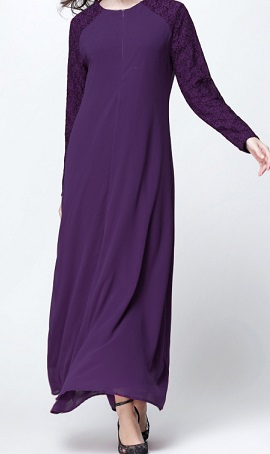 NBH0453 IZZATI MAXI DRESS (NURSING FRIENDLY)