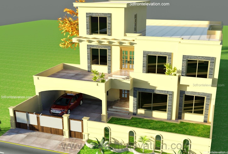 3D Front Elevation.com: 1 kanal House Plan for 9-K1 wapda ...