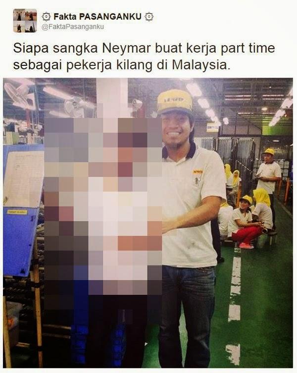 Neymar kini kerja kilang di Malaysia