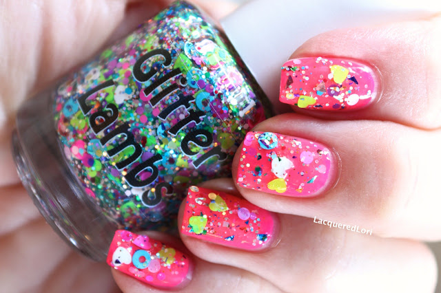 "Glitter Lambs ""I Cry Candy"" Glitter Topper Nail Polish  by @LacqueredLori"