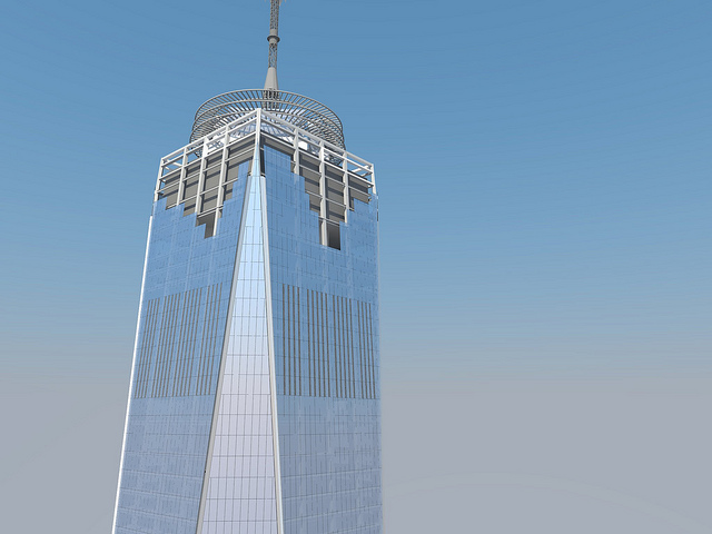 glass rendering of One World Trade Center by Skidmore, Owings & Merrill LLP (SOM)