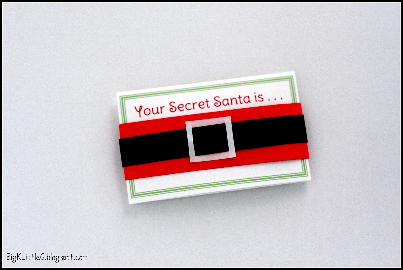 Big K Little G: DIY Secret Santa Drawing Gift Tags with Wishlist