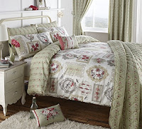 Pretty As A Picture King Duvet Cover Set in Green