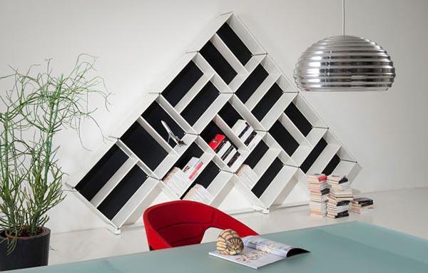 Librer a elegante y decorativa en blanco y negro decoracion de dormitorios - Decoracion blanco y negro ...