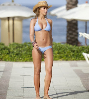 Amy Willerton blue bikini Caribbean