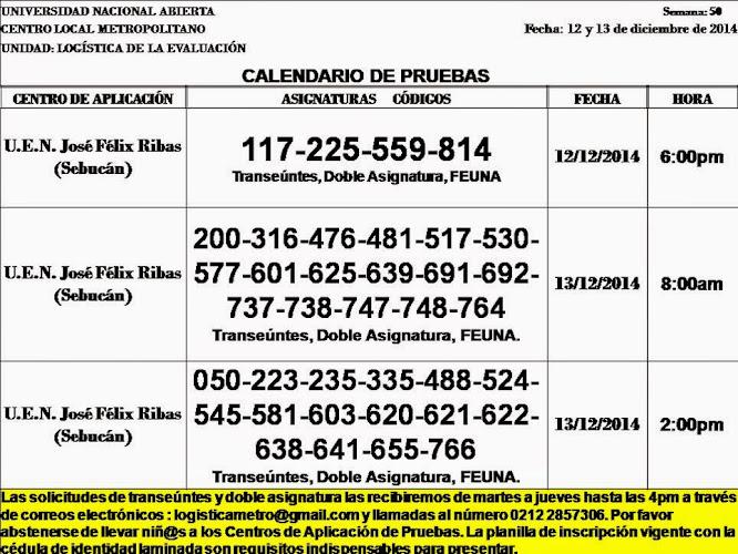 CENTRO DE PRESENTACIÓN EN CARACAS. VIERNES 12 y SÁBADO 13 DE DICIEMBRE.