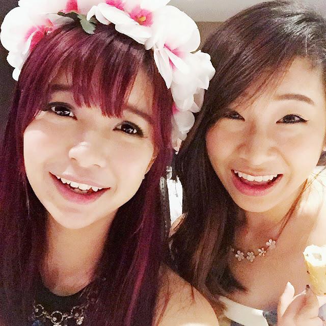jjoyis red hair bangs flower crown