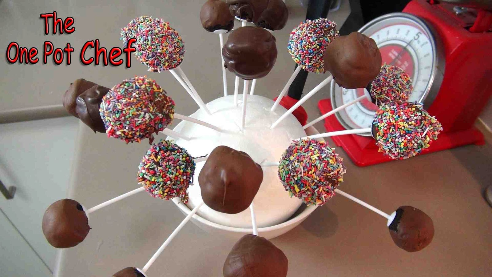The One Pot Chef Show: Basic Cake Pops - RECIPE