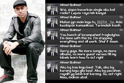 Altimet, bengang, gossip, Murai Batu, warner music, warner music sdn bhd, bergaduh, marah, splash_gosip, artis, gosip, malaysia, panas, sensasi, kontroversi, selebriti, gambar diva