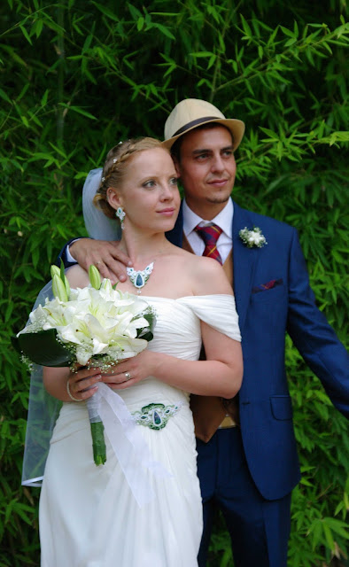 sutasz ślubny ażurowy komplet biżuterii