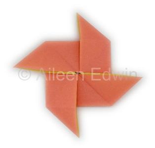 Origami pinwheel base