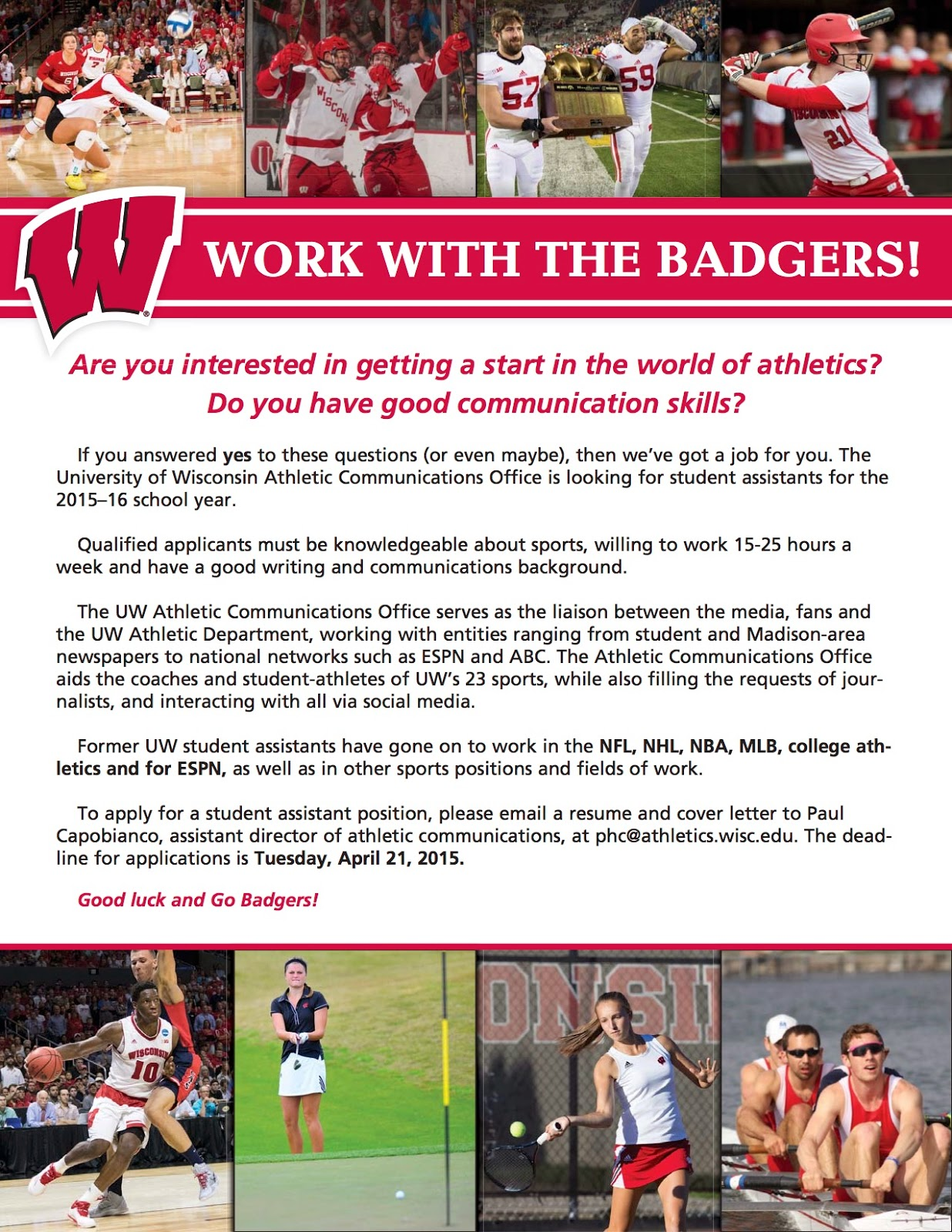 Welcome from the Director    About UW Madison
