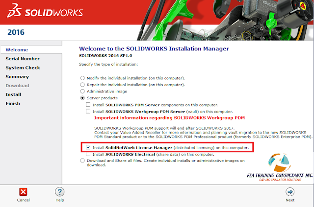 solidworks license manager