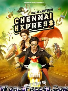 Poster Of Bollywood Movie Chennai Express (2013) 300MB Compressed Small Size Pc Movie Free Download worldfree4u.com