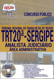 Apostila Concurso TRT Sergipe - Analista Judiciário - Vídeo Aula TRT20ª Região