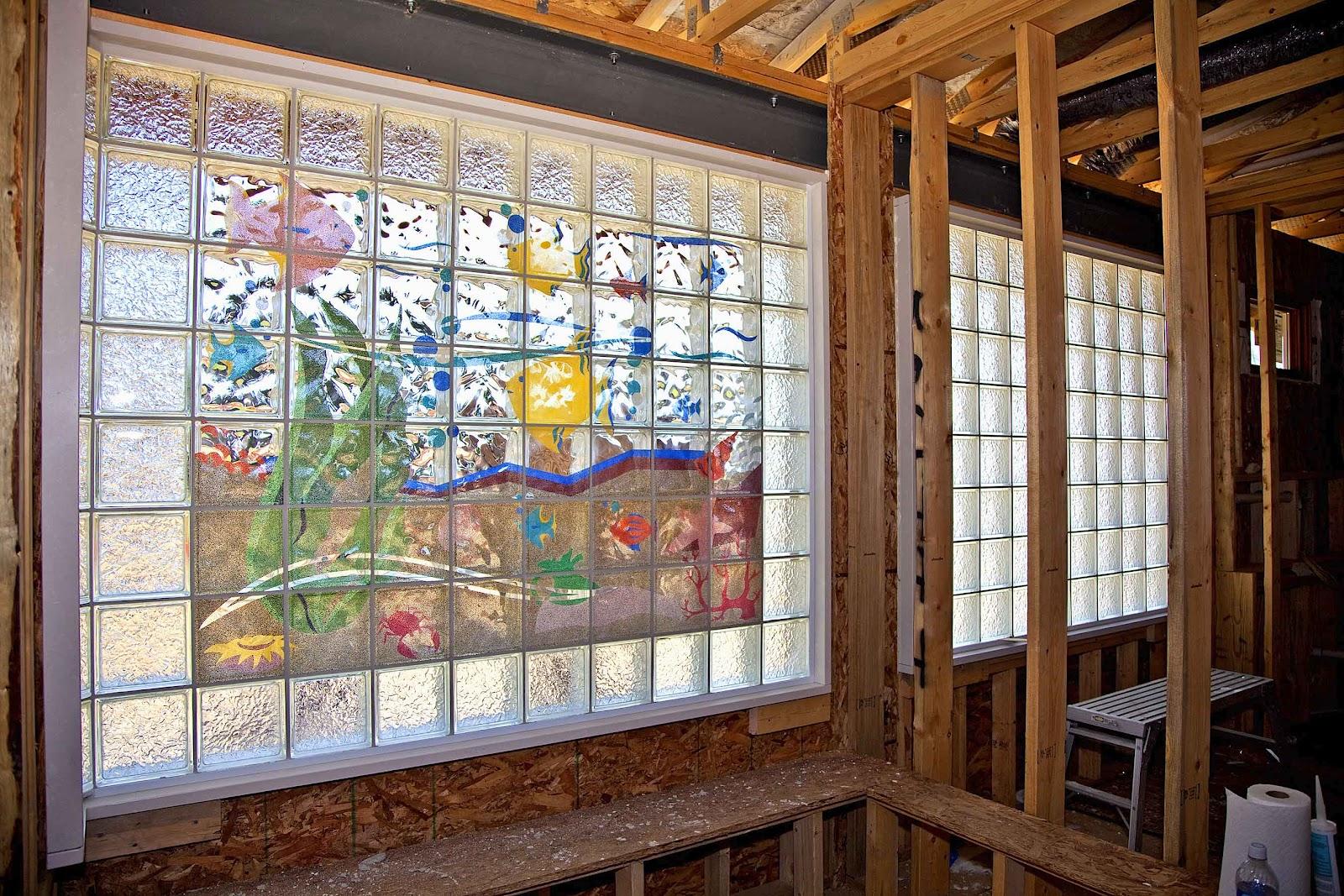 Living room design ideas for glass bricks for Designer glass block