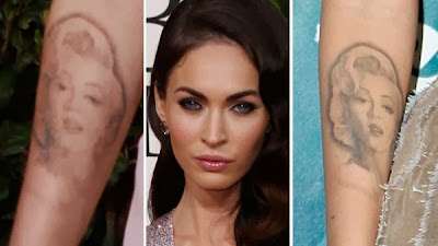 Megan Fox removes her Marilyn Monroe Tattoo