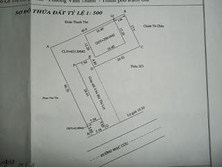 Cần bán 2 căn nhà, 1 căn mặt tiền đường Mạc Cửu
