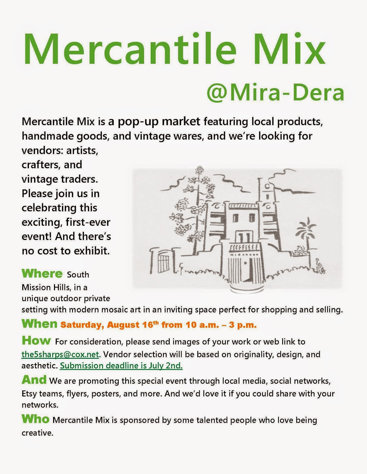 Mercantile Mix flyer