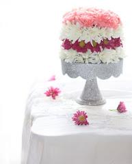 DIY flower cake
