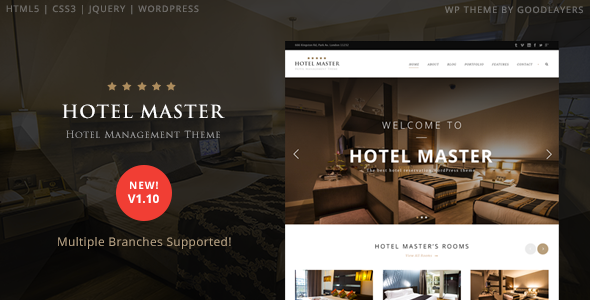 download Hotel Master v1.10 - Hotel Booking WordPress Theme