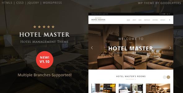 download Hotel Master v1.10 - Hotel Booking WordPress Theme