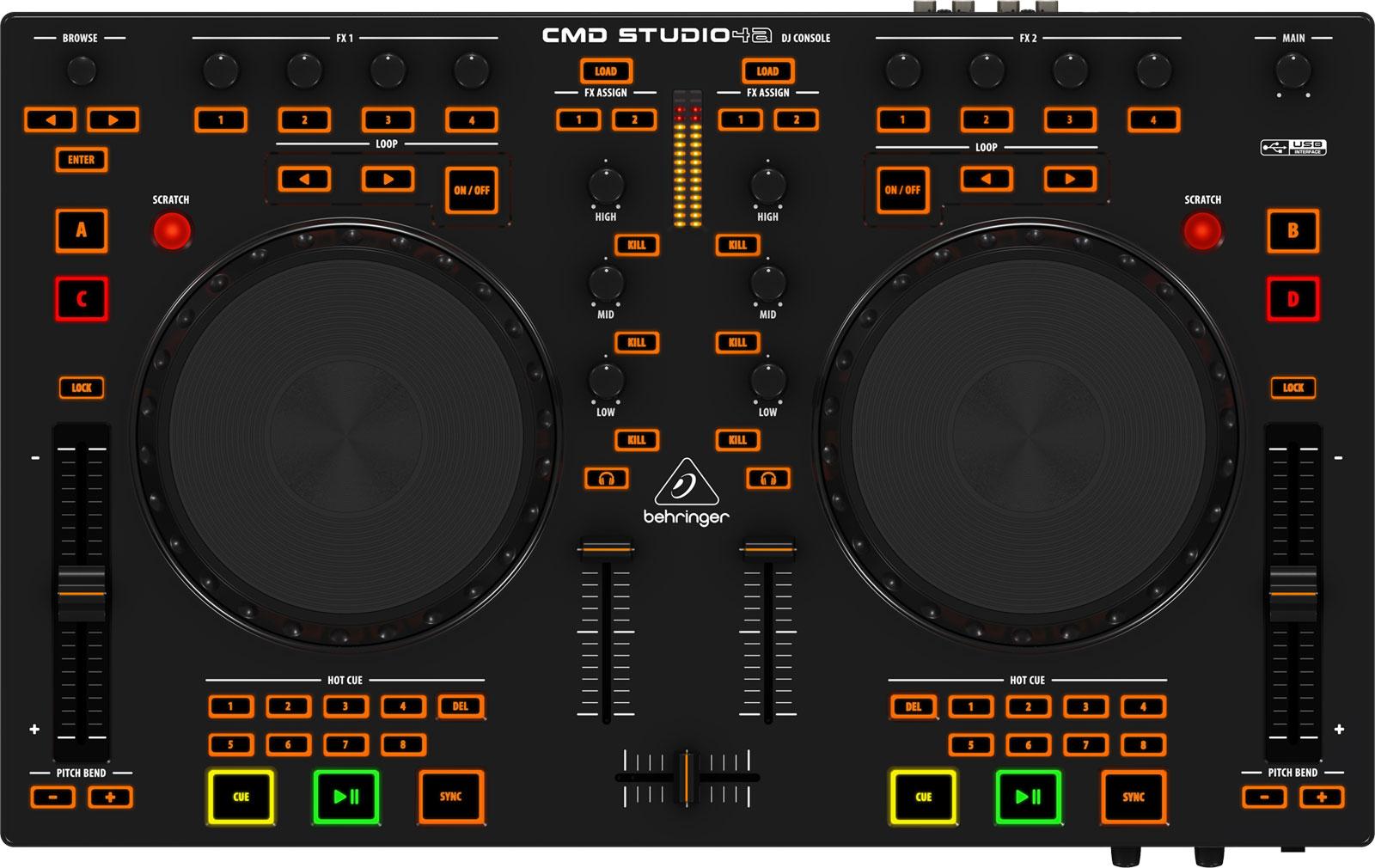 Midi Deck Controller 4-deck dj Midi