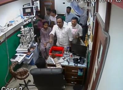 Noted Bangalore eye specialist Dr Saravana Kodandapan has posted a video of a politician threatening him for complaining against liquor shops.   Dr Kodandapan runs Sri Venkateshwara Nethralaya at Rajarajeshwari Nagar, one of the outer lying suburbs of Bangalore.