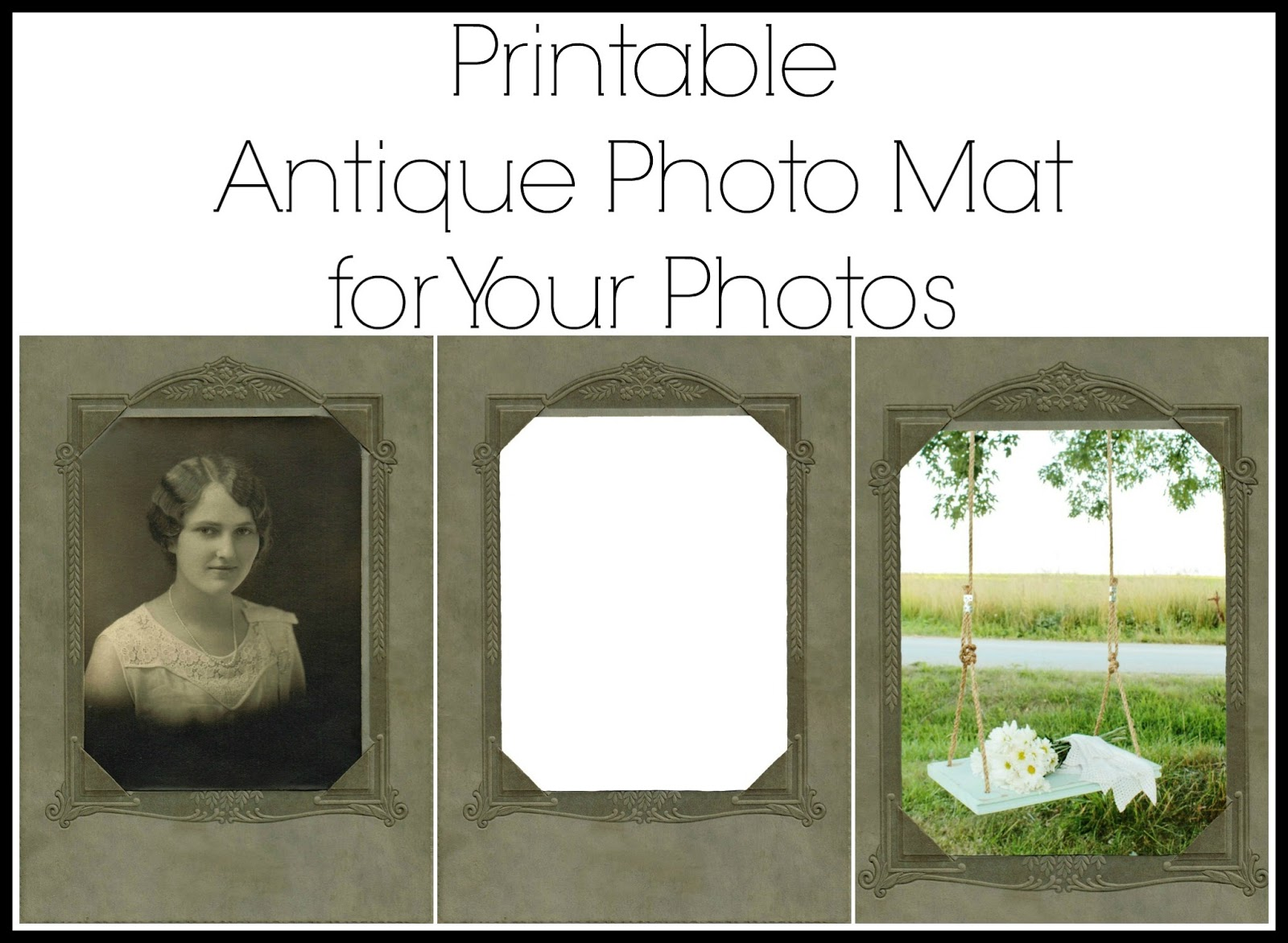 Printable Antique Photo & Mat - Knick of Time