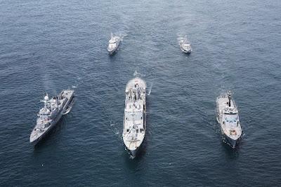 A las unidades mayores se le sumaron aquellas de menor desplazamiento como los buques patrulleros de costa CPV-46 y Swift 110.