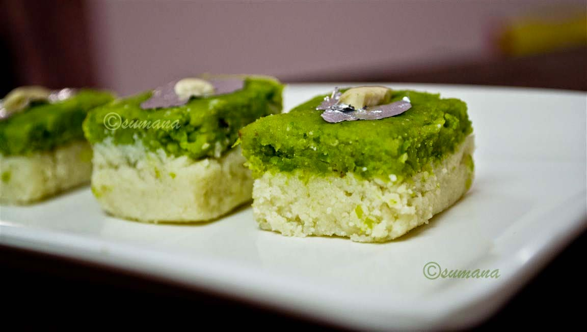 Bengali style sandesh recipe with green peas and kalaland