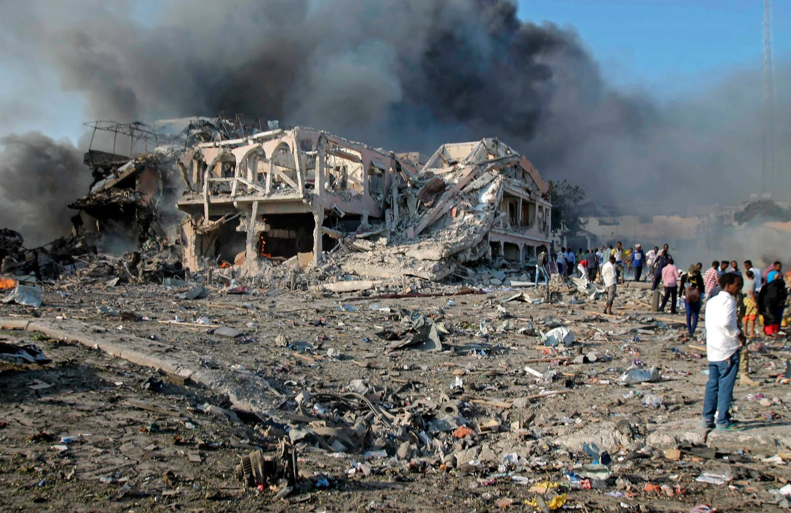 SOMALIA TERRORIST ATTACK LEAVES HUNDREDS DEAD.