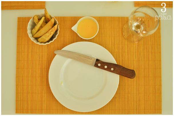 mesa de hambúrguer