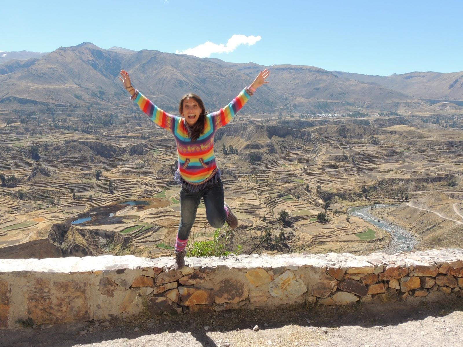Salto en el Valle del Colca