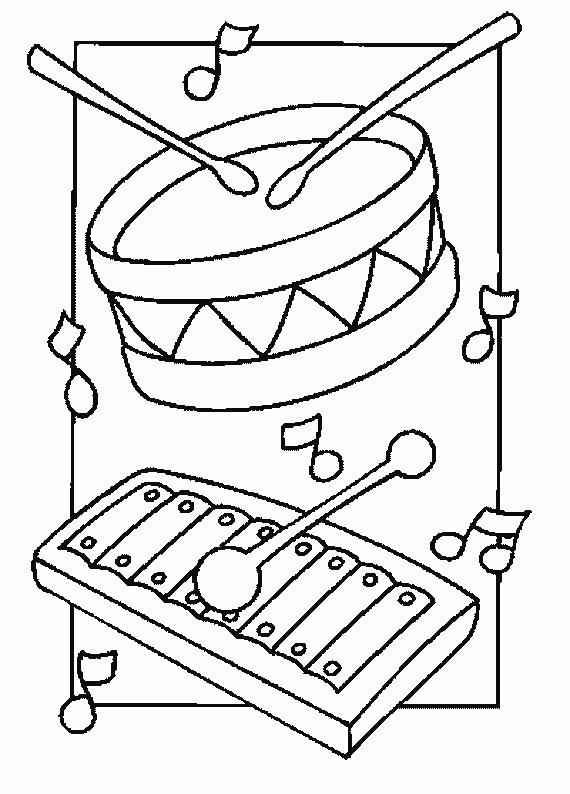 Instrumentos musicales para pintar