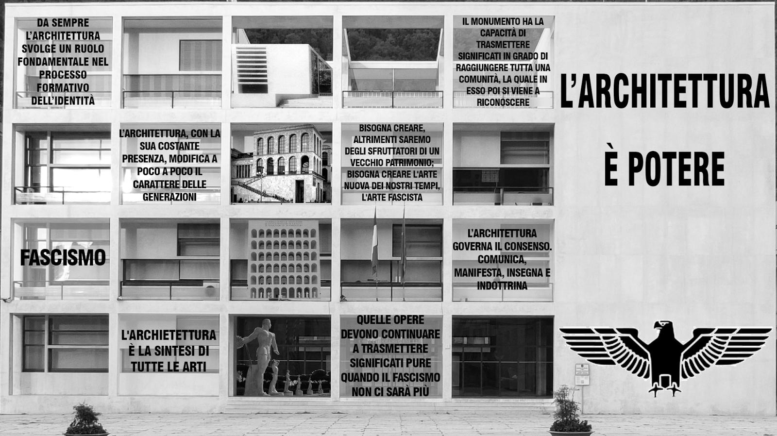 Architettura e fascismo simbiosi tra paesaggio e for Architettura fascista in italia