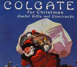 Propaganda do Colgate como sugestão de presente de Natal em 1920.