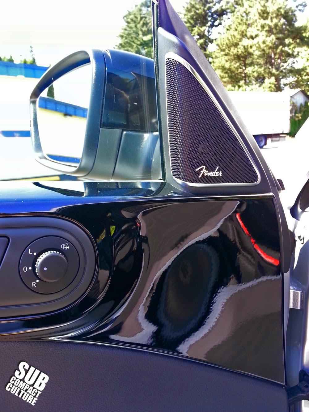 VW Beetle R-Line door with Fender audio speaker