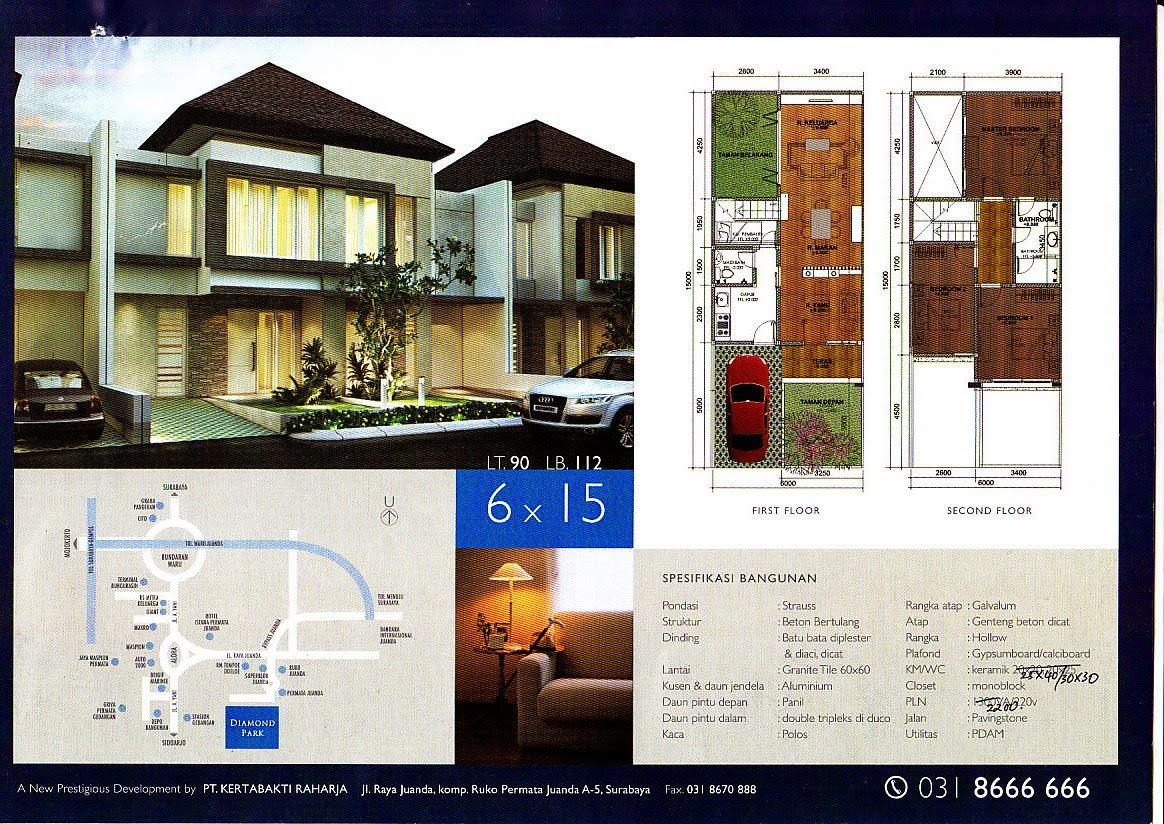 Desain Rumah Minimalis 2 Lantai 9 X 15