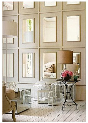 TaylorMaison: Home Inspiration: Mirrored Wall