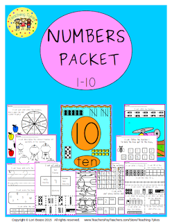 https://www.teacherspayteachers.com/Product/Numbers-1-10-2178356