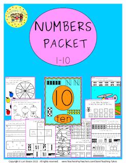 https://www.teacherspayteachers.com/Product/Numbers-1-10-2178356