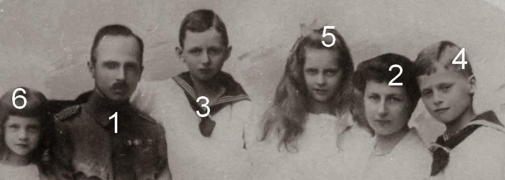 Carl Eduard, Victoria Adelheid, duc et duchesse de Saxe-Cobourg et Gotha et 4 de leurs enfants
