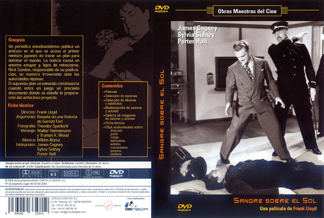 Carátula: Sangre sobre el Sol - 1945 - Cover dvd