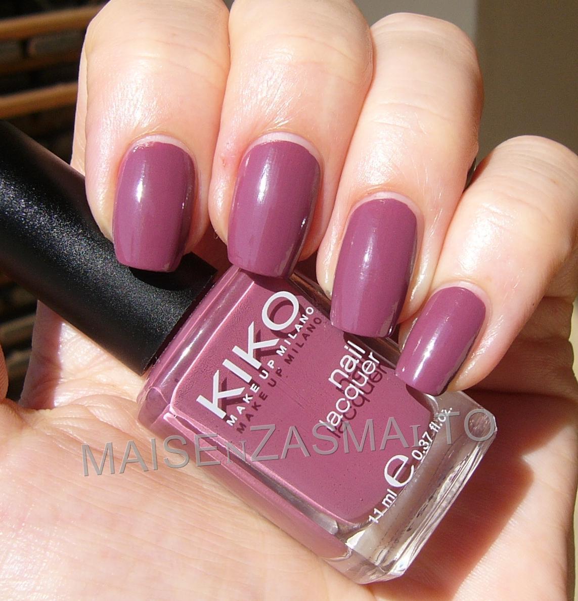 Preferenza Mai senza smalto!: NOTD: Kiko 317 Rosa Antico Scuro DN27