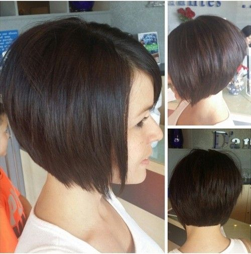 Sweet Dark Bob Haircut..