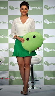 Bollywood Actress Parineeti Chopra Picture Gallery at WeChat Messenger Launch  0005