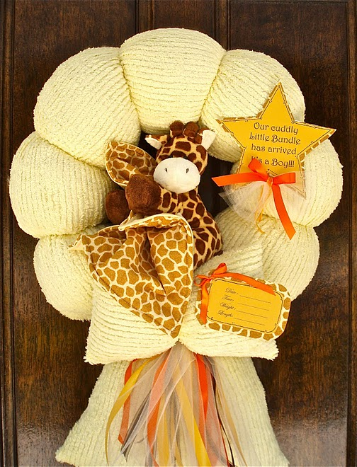 35. Baby Giraffe Wreath #1