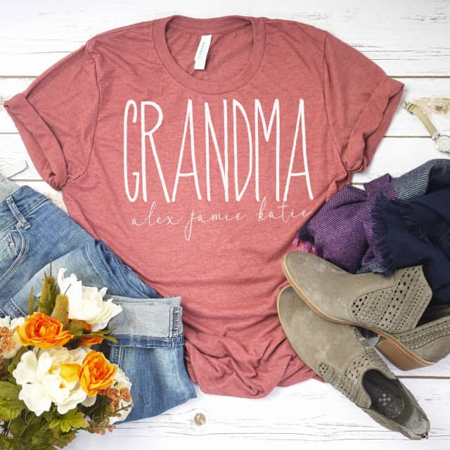 Custom Aunt/Mom/Grandma Tees