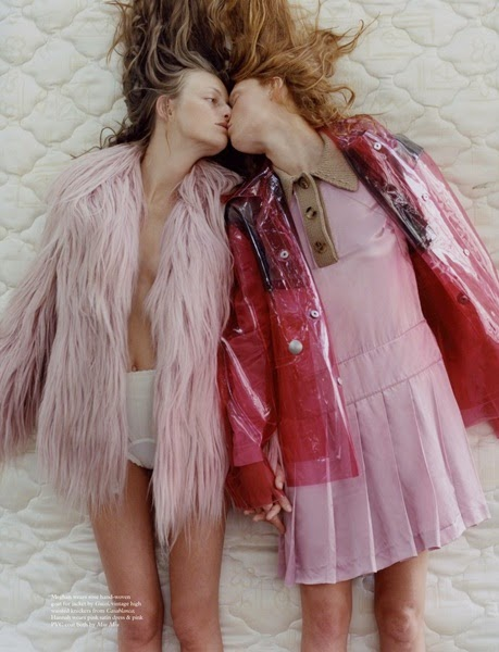 Gucci 2014 AW Pink Goats Hair Coat